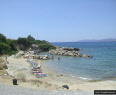 Beach where Pefkos Glass Bottom boat pickup