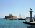 Mandraki harbour in Rhodes Town